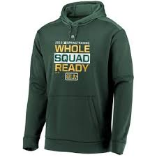Hoodie Majestic Authentic Oakland Green Team Distinction Collection Men's Athletics Pullover