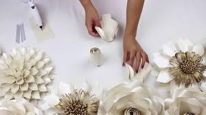 Paper Flower Wedding Backdrops Diy Paper Rose Tutorial My Wedding Backdrop Flowers