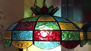 antique stained glass hanging lamp shades