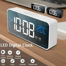 <b>LED Creative Digital Alarm Clock</b> Night Light Thermometer <b>Display</b> ...