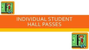Student Hall Pass Editable Printable Individual Student Hall Passes