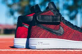 nike flyknit air force 1 mid university red air force 1 flyknit