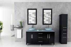 glass vessel sinks for bathrooms. Avola 59 Inch Double Glass Vessel Sinks Bathroom Vanity For Bathrooms