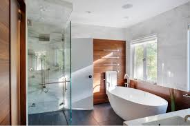 modertn bathroon glass shower