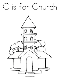 Small Picture C is for Church Coloring Page Twisty Noodle