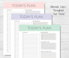plan daily schedule daily planner printable todays plan daily schedule