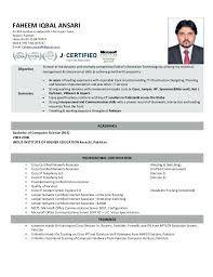 Sample Resume For Ccna Certified Resume For Ccna Certified Fresher