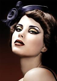for the perfect steam punk look for take a bronze or copper even gold eye shadow and out line it with black eye liner