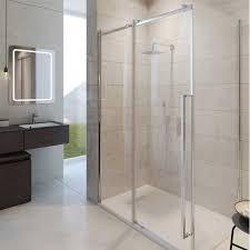 simpsons pier 8mm sliding shower door optional side panel