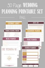 30 Page Wedding Planning Printable Set Available In 4 Color Bridesclubs Wedding Planner