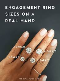 A Side By Side Carat Comparison Of Different Engagement Ring