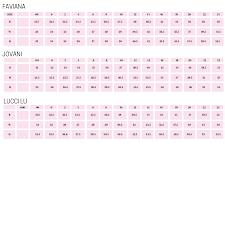 Slip On Size Chart Size Chart Pink Slip Boutique