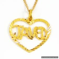 22ct indian gold javed heart pendant