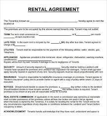 Property Lease Agreement Rent Agreement Template Rental Property