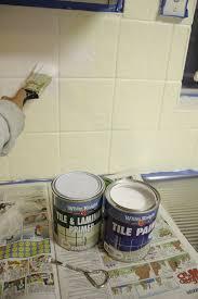 Painting Kitchen Tile Backsplash Adorable Our Budget Kitchen Makeover How To Paint Splashback Tiles House