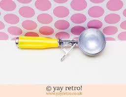 vintage yellow ice cream scoop 8 00