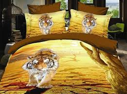 new arrival lifelike 3d tiger print 4 piece bedding sets duvet cover sets