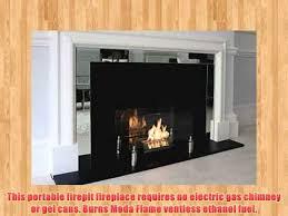 baza free standing floor indoor outdoor ethanol fireplace clear