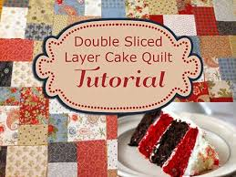 Best 25+ Layer cake patterns ideas on Pinterest | Quilt patterns ... & Double Slice Layer Cake Quilt Tutorial, no pattern needed, free Adamdwight.com