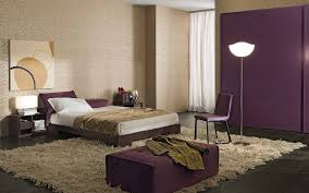 Bedroom:Purple And Cream Bedroom Decoration With Big Cream Fur Rug And  Floor Lamp Impressive