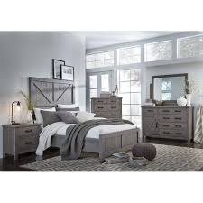 gray rustic contemporary 6 piece king bedroom set austin rc willey furniture
