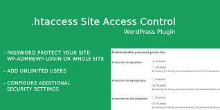 htaccess Site Access Control - WordPress Plugin   Codester