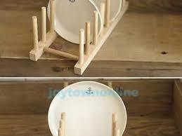 Diy Plate Display Stand Adorable 323232 Wood Kitchen Dinner Plates Dish Holder Stand Rack DIY
