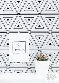 black and white wallpaper geometric pattern. Delighful Black Geometric Triangle Wallpaper Removable Black And White  Wallpaper  Aj Pop Pinterest Pattern Wallpaper Interiors With And P