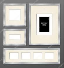 set of metallic frames stock vector