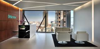 modern office reception. white wall color with stylish paneling using modern reception desk for enchanting office area design ideas s