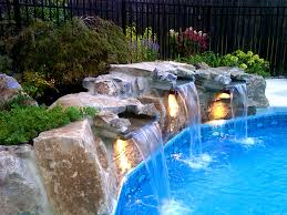 inground pools with waterfalls and slides. Apartments, Awesome Inground Pool Waterfalls Ls Waterfall Ideas Waterfallon: Full Size Pools With And Slides