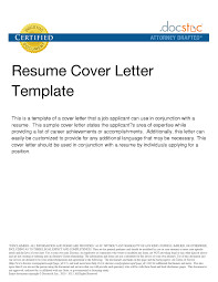 Example Of Cover Letter For Resume Template Resume Builder