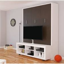 Aliance Murphy Bed with TV Stand | American Oak