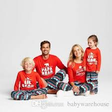 Newest Family Christmas Pajamas Sets Father Mother Daughter Son Papa Mama Bear Pjs Matching Outfits Clothes Pyjamas Sleepwear Mom And