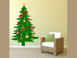 christmas tree ornaments wall awesome projects christmas tree wall decal