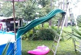 build water slide above ground pool homemade ide brilliant gro