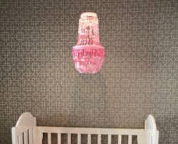 hot pink or white capiz shell nursery chandelier ceiling light fixture in a gray and white baby bedroom ceiling lights