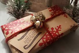 gift wrapping idea with bells