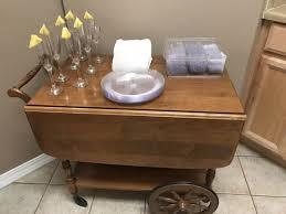 vintage wooden tea cart excellent condition