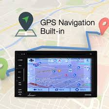 lanzar sdnv66b 6 5 video headunit receiver gps navigation lanzar sdnv66b on the road headunits stereo receivers 6 5