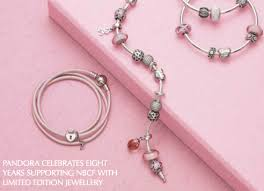 pandora pink ribbon bracelet for breast cancer awareness month  pandora marks eight consecutive years supporting breast cancer research and s national breast cancer foundation the introduction of a limited