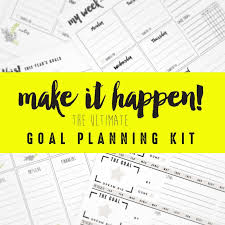 Free Goal Setting Worksheets Skip To My Lou