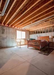 unfinished basement bedroom. Contemporary Bedroom Highcraftbuildersunfinishedbasementbedroom On Unfinished Basement Bedroom A