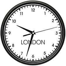 wall clock for office. LONDON TIME Wall Clock World Time Zone Office Business For