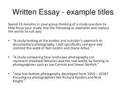 exam written essay 4 written essay