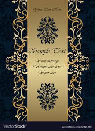 Golden Invitation Card Design Golden Invitation Makar Bwong Co