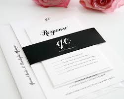 Black White And Pink Wedding Invitations Hot Invitation