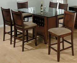 dining room glass table set brown fur rug idea plain white tablecloth wooden frame window