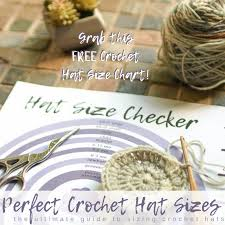 Crochet Hat Sizes The Flat Circle Method Salty Pearl Crochet