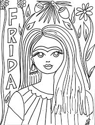 This is an homage to the original queen of the selfie: Free Frida Kahlo Coloring Pages The Crafty Chica Crafts Latinx Art Creative Motivation